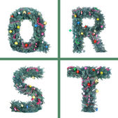 Nice Christmas Alphabet — Stock Photo