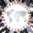 Group of around a world map — Stock Photo