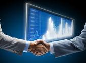 Overeenkomst, achtergrond, begin, zwart, business, zakenman, kans, co — Stockfoto