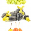 Grapes, Sunflower Seeds and Pears — Stock Photo #7242656