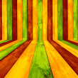 Creative Multicolored Wood Background — Photo