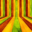 Creative Multicolored Wood Background - Stock Photo