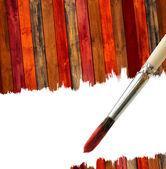 Fondo cepillo y madera con espacio de copia — Foto de Stock