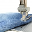 Sewing Machine and Jeans — Stock Photo