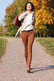 Walking woman — Stock Photo