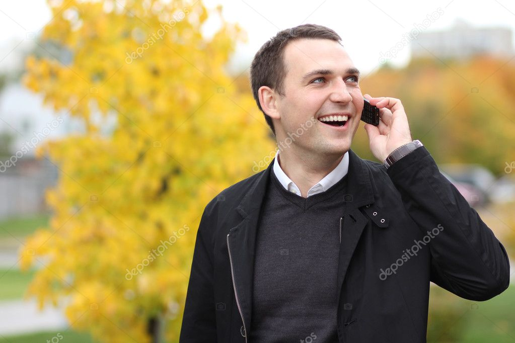 Portrait of young attractive man, outdoors  — Stock Photo #7154393