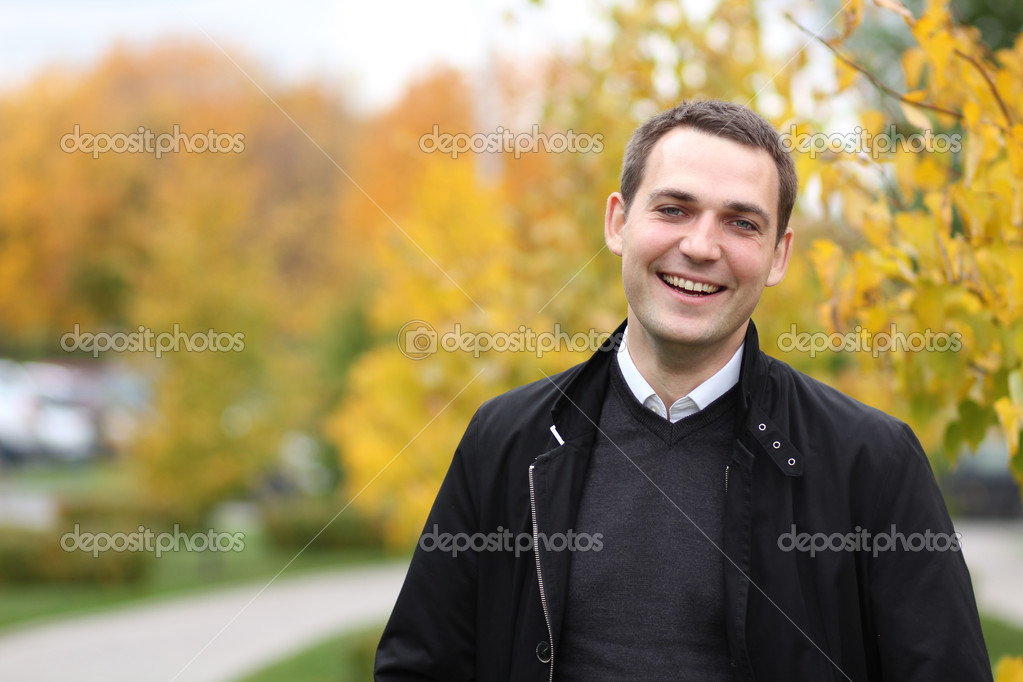 Portrait of young attractive man, outdoors  — Stock Photo #7154403