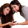 Stock Photo: Women and phone