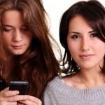 Women and phone — Stock Photo