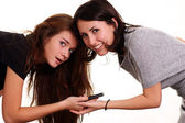 Mulheres e telefone — Foto Stock