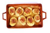 Potato with fat — Stock Photo