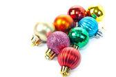 Varicoloured christmas balls — Stock Photo