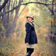 Girl in autumn park — Stock Photo #7111133
