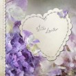 Hydrangea card — Stock Photo