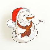Christmas snögubbe skiss — Stockfoto