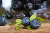 Fresh bilberry — Stock Photo