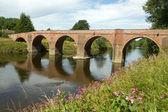 The Bredwardine Bridge over river Wye in Herefordshire, England. — Stock Photo