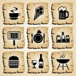 Icons food — Image vectorielle