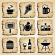 Icons food — Vector de stock #6756093