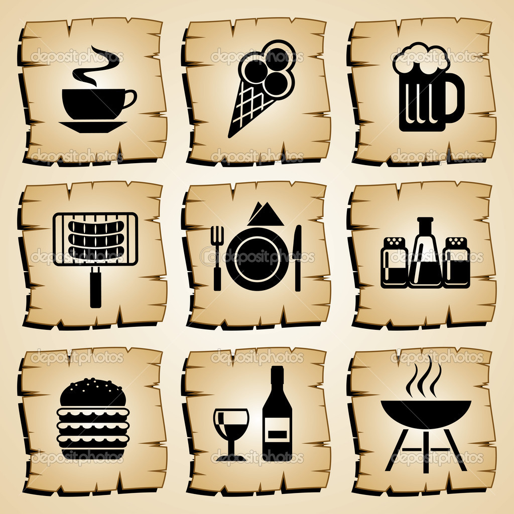 Set vector symbol food and beverages — Stock Vector #6756093
