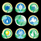 Eco icons — Stock Vector