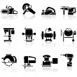 Tools icons set — Stock Vector #7539865
