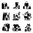 Clothing and accessories icons — Stock Vector