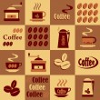 Background with coffee icons — Stock Vector