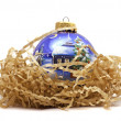Christmas bauble isolated on white — Stock Photo