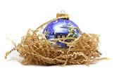 Christmas bauble isolated on white — Stock Photo