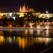 Night view of Prague - Stok fotoraf