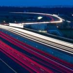Car lights trails — Stock Photo
