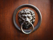 Lion Head Door Knocker — Zdjęcie stockowe