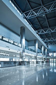 Business hall blue — Stock Photo