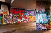 Mur de graffiti — Photo