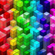 Abstract seamless cube background — Stock Photo