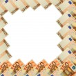Abstract frame of 50 Euro banknote on white — Stock Photo