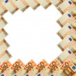 Abstract frame of 50 Euro banknote on white — Foto Stock