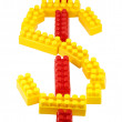 Stock Photo: Symbol dollar constructor