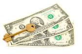 Key in dollar — Stock Photo