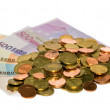 Coins of euro currency — Stock Photo