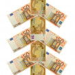 Christmas tree fifty euro banknote — Stock Photo