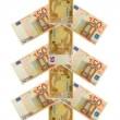 Christmas tree fifty euro banknote — Stock Photo