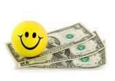 Smile money dollar — Stock Photo