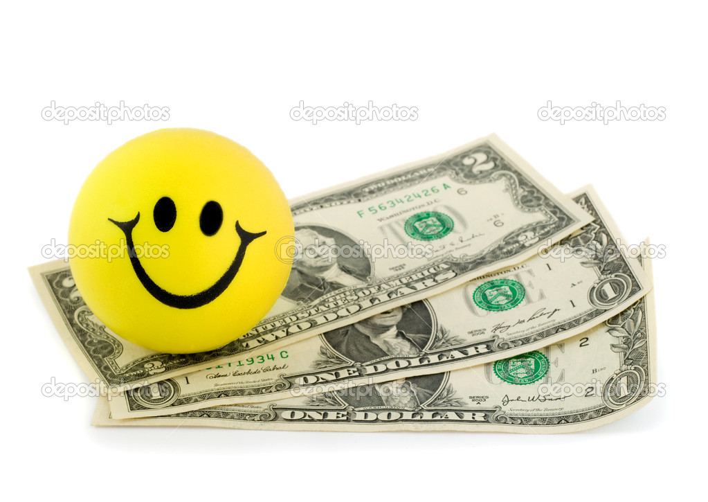Smile money dollar close-up isolated on white background — Stock Photo #6850542