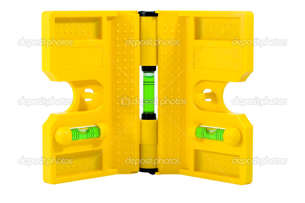 Spirit level for tube front view isolated on white background  Stock Photo #6850553