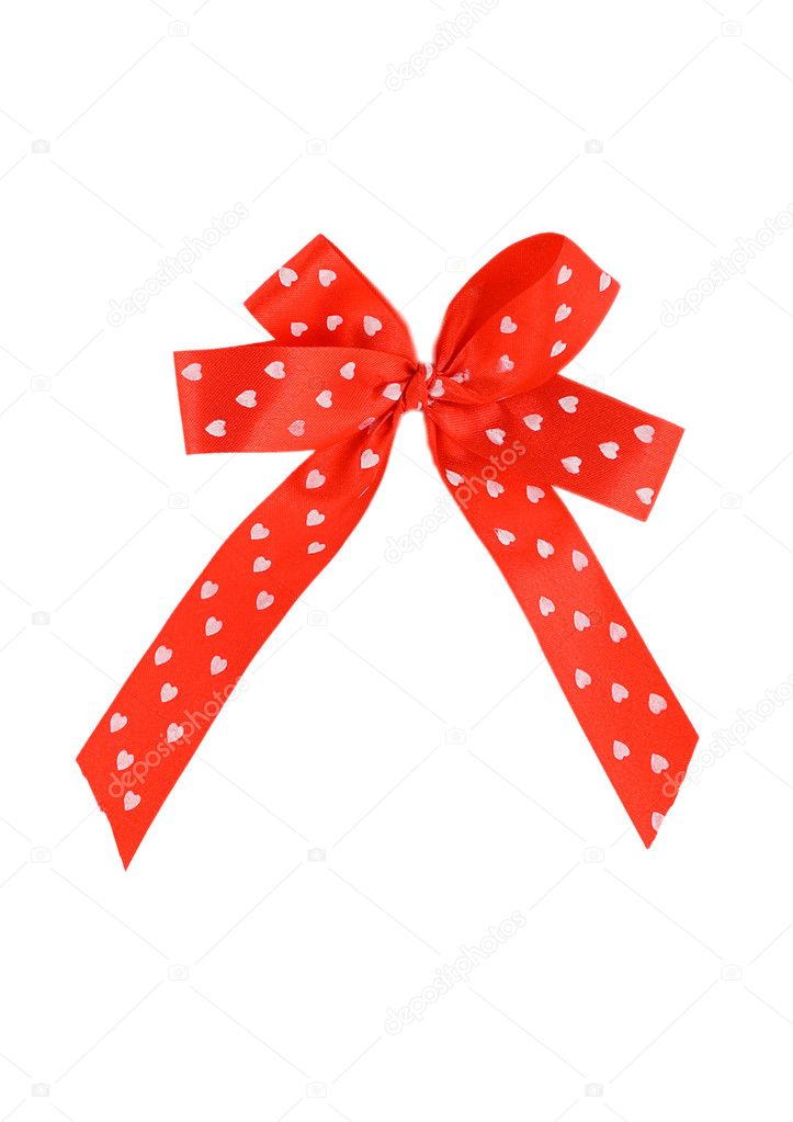 Red ribbon isolated on white background — Stock Photo #6882123