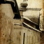 Art old city grunge paper — Stock Photo