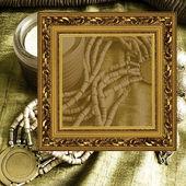 рамка фон мода ювелирные изделия искусства — Стоковое фото