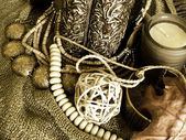 Art jewelry fashion background card — Stock Photo